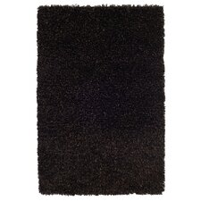 Plain Coke / Grey Shag Rug