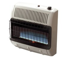 Vent Free 30,000 BTU Radiant Wall/Floor Propane Space Heater with Thermostat
