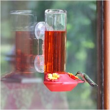 <strong>Garden Song</strong> Window Mounted Glass Hummingbird Feeder