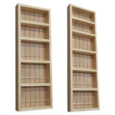 2 Piece On the Wall Spice Rack II Set