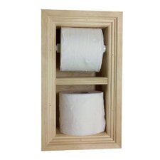 Recessed Toilet Paper and Spare Roll Holder