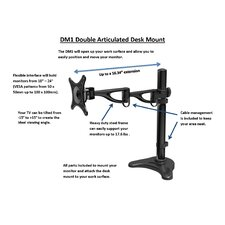 Double Articulated Desk Monitor Mount