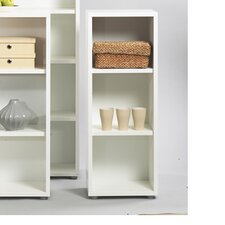 Fairfax Short Narrow Bookcase in White