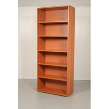 Pierce Office Six Shelf Bookcase in Black Woodgrain