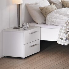 Audrey 2 Drawer Nightstand in Coffee