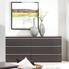 <strong>Tvilum</strong> Tucson Bedroom 6 Drawer Double Dresser