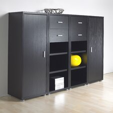 Fairfax Bookcase Set in Black Woodgrain