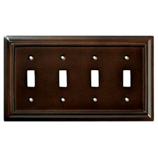 Wood Architectural Quad Switch Wall Plate