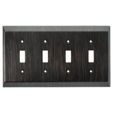 Stately Quad Switch Wall Plate