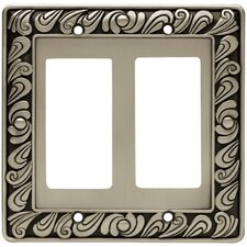Paisley Double GFCI/Rocker Wall Plate