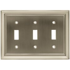 Architectural Triple Switch Wall Plate