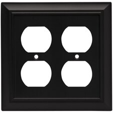 Architectural Double Duplex Wall Plate