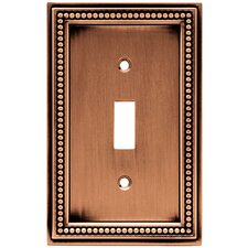 Beaded Single Switch Wall Plate