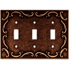 <strong>Brainerd</strong> French Lace Triple Switch Wall Plate