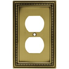 Beaded Single Duplex Wall Plate