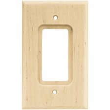 Wood Square Single Decorator Wall Plate