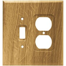 Wood Square Single Switch/Duplex Wall Plate