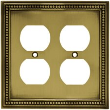 Beaded Double Duplex Wall Plate