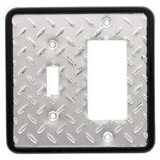 <strong>Brainerd</strong> Diamond Plate Single Switch/Decorator Wall Plate