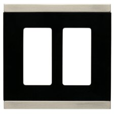 Basic Stripe Double Decorator Wall Plate