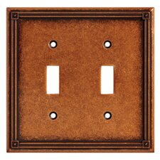 Ruston Double Switch Wall Plate