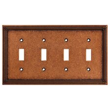 Ruston Quad Switch Wall Plate