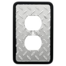 Diamond Plate Single Duplex Wall Plate