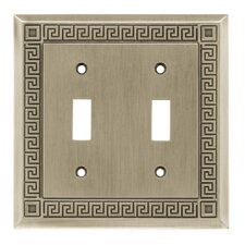 <strong>Brainerd</strong> Greek Key Double Switch Wall Plate