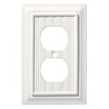 Beadboard Single Duplex Wall Plate