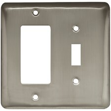Stamped Round Single Switch and Decorator Wall Plate