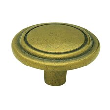 "<strong>Liberty Hardware</strong> Decorative Raised Ring 1.25"" Round Knob (Set of 2)"