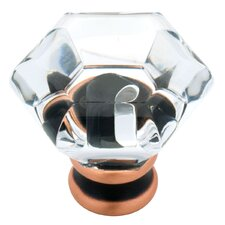 "Decorative Acrylic Faceted 1.24"" Novelty Knob"