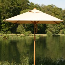 7' Square Bamboo Market Umbrella