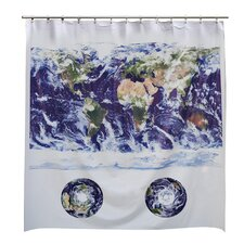 Astro View World Map Shower Curtain