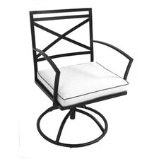 <strong>Meadowcraft</strong> Maddux Swivel Dining Arm Chair with Cushion