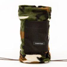 Camouflage Fuzzy and Black Crutch Bag