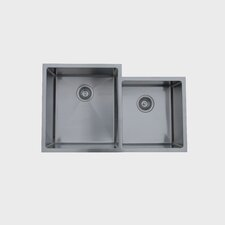 "33.5"" x 20.5"" Micro Series Double Bowl Undermount Kitchen Sink"