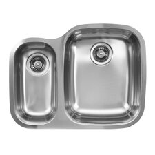 "26.25"" x 20.5"" Double Bowl Undermount Kitchen Sink"