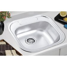 "<strong>Ukinox</strong> 18.88"" x 18.88"" Drop-in Single Bowl Kitchen Sink"