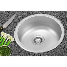 "17.5"" x 17.5"" Dual Mount Round Kitchen Sink"