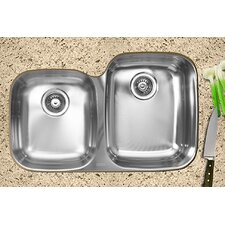 "31.5"" x 20.5"" x 10"" Double Bowl Undermount Kitchen Sink"