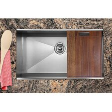 "32"" x 18.5"" Zero Radius Single Bowl Kitchen Sink"