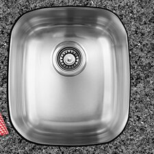 "17"" x 14.75"" x 10"" Single Bowl Undermount Kitchen Sink"