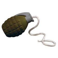 Rugged Rubber Medium Grenade Dog Toy