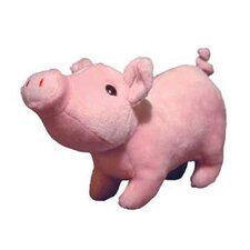 <strong>Tuffy's Pet Products</strong> Paisley Farm Piglet Dog Toy