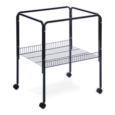 Rolling Stand with Shelf Black