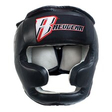Leather Head Gear with Cheek and Chin Protection
