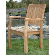 <strong>Regal Teak</strong> Stacking Arm Chair