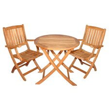 Teak Boca Raton Balcony Dining Set