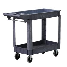 2 Shelf Polypropylene Service Cart
